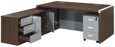 主桌寬203深180高77 側櫃寬180深48高64 活動櫃