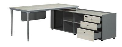 主桌寬160深80高75 側櫃寬180深50高64.5 總寬180深160高75