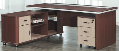 主桌寬180.5深85高77.5 側櫃寬160.5深45高64.5 總寬180.5深160高77.5