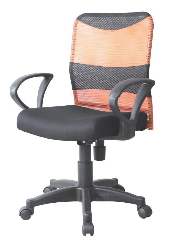 高密度泡棉坐墊      氣壓升降      椅背旋鈕鬆緊傾仰    座寬45座深43高88~99