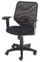 低背網椅  厚坐墊 調整扶手 #1272A