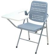 白宮塑鋼課桌椅 塑膠面/電鍍腳