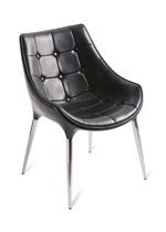 造型椅 黑皮