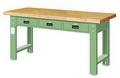 重型工作桌 原木三屜
