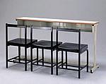 三人課桌椅