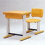 可調式人體工學課桌椅(橘)