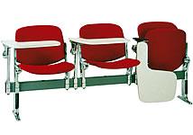 布面三人課桌椅