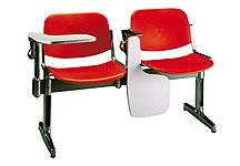 PP面三人課桌椅