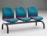 哈利布面三人排椅