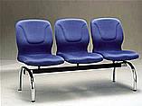 波特布面三人排椅