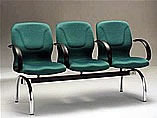波特布面扶手三人排椅
