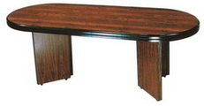橢圓會議桌  美耐板面