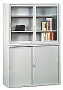 HL461整座鐵拉門書櫃