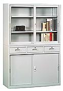 HL463整座中三屜書櫃