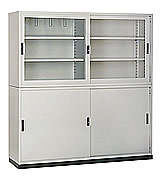 HB661整座鐵拉門書櫃
