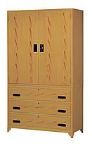 4X7內鏡木紋衣櫃