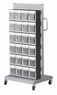 單面活動車+置物盒(24抽)