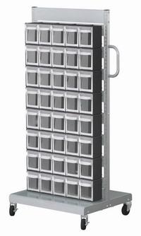 單面活動車+置物盒(40抽)