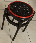 圓面籐椅-黑面
