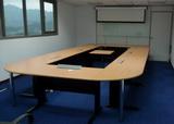 CM環式會議桌(木紋面/黑腳)