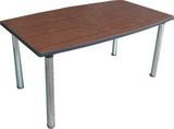 船形會議桌(木紋圓管腳)